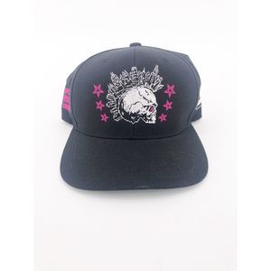 Scull Cityscape Punk Baseball Cap
